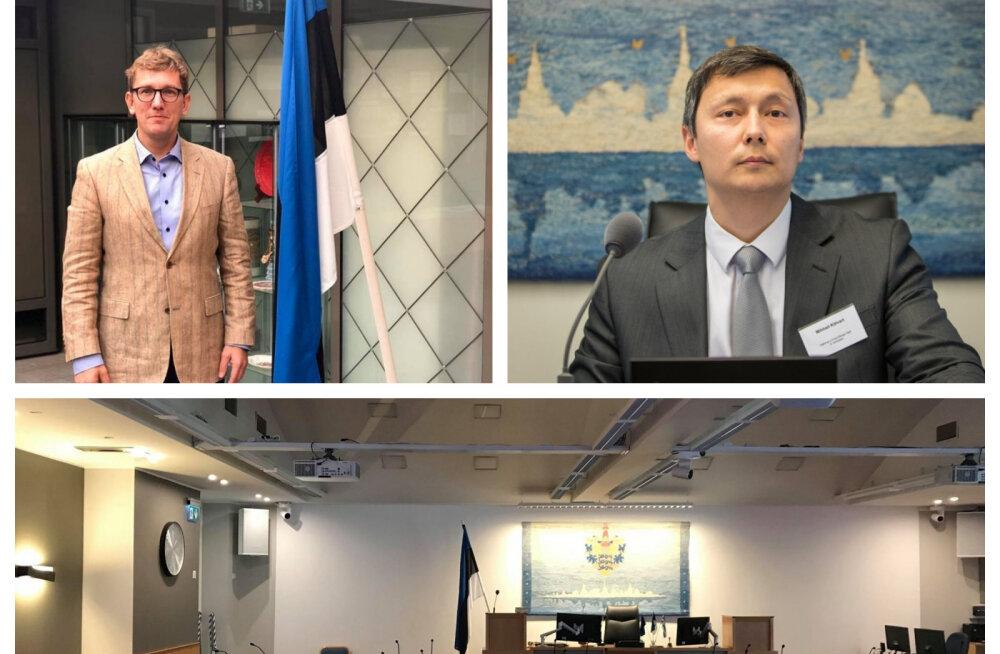 Eesti lipule Tallinna linnavolikogu saalis ruumi ei ole? Vastkingitud riigilipp viidi salaja saalist minema