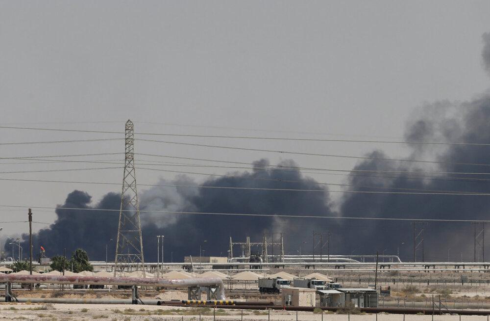 Saudi Araabia naftatehaste ründamise järel on tõusnud nafta hind