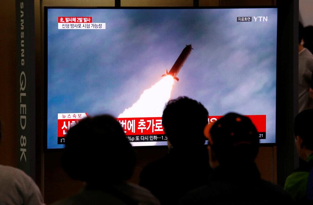 Põhja-Korea lasi välja tundmatuid rakette