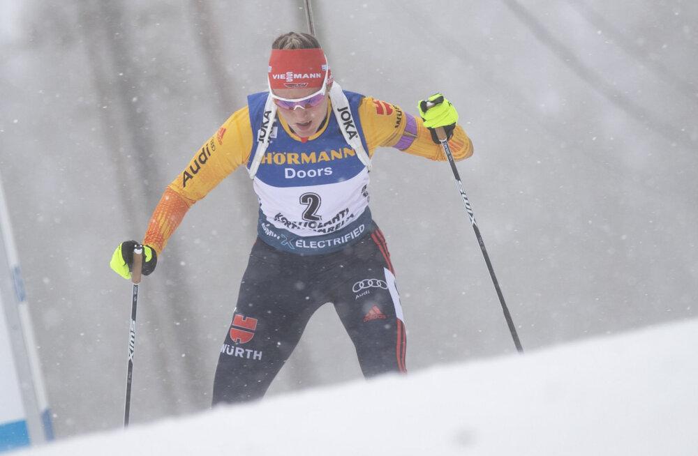 Победительница спринта Дениз Херманн