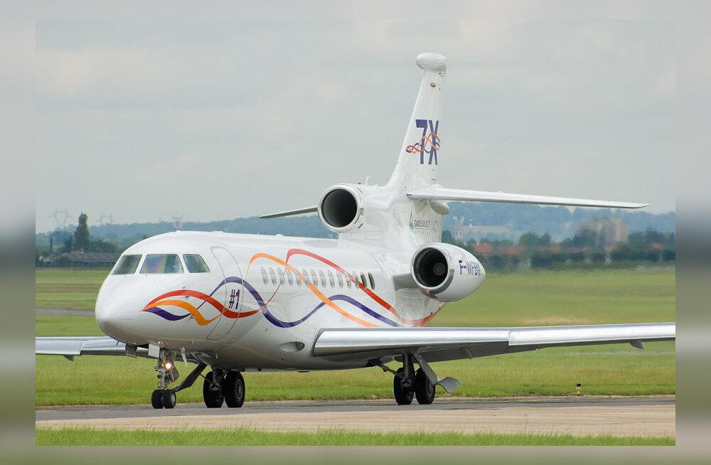 Mis on kiireim vahend reisijale New Yorgist Londonisse jõudmiseks? Dassault Falcon 7X