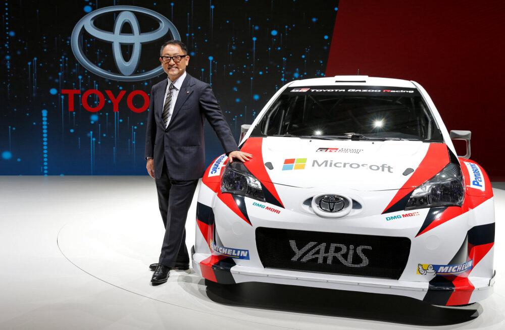 Toyota president valas rallimeeskonna kiidusõnadega üle