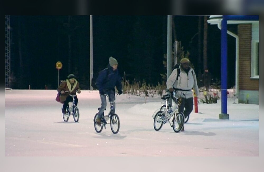 YLE: Lapimaal keelati Soome-Vene piiri ületamine jalgratastega