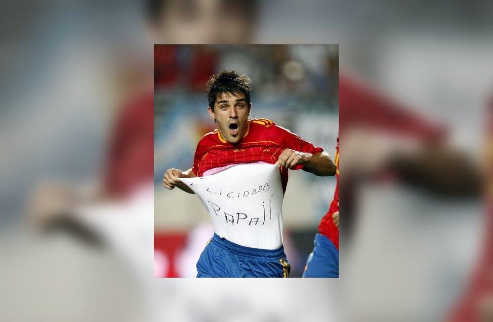 David Villa on realiseerinud Argentina vastu penalti