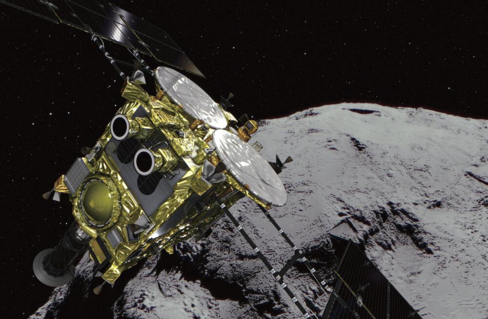 Mürsuga varustatud Jaapani kosmosesond jõudis täna pärast kolme ja poole aasta pikkust reisi asteroidini