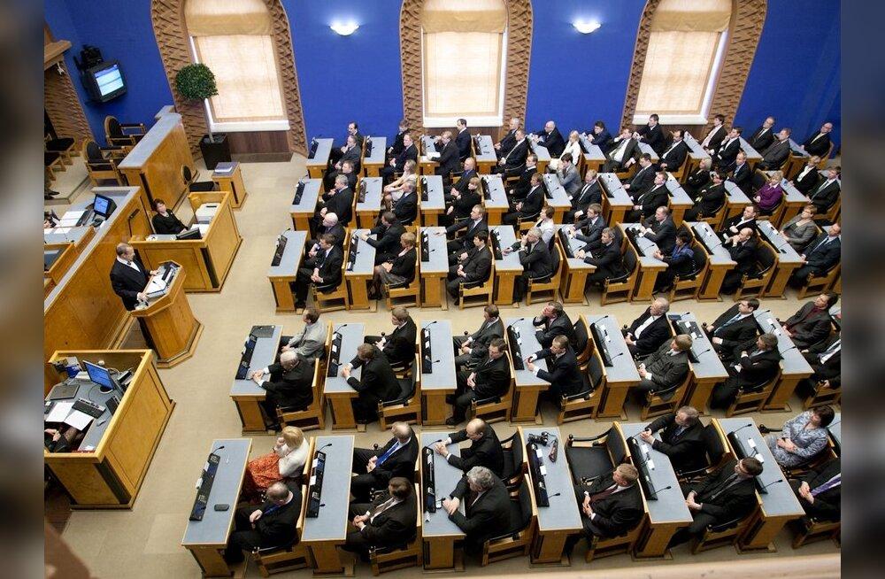 В Рийгикогу создано восемь парламентских групп