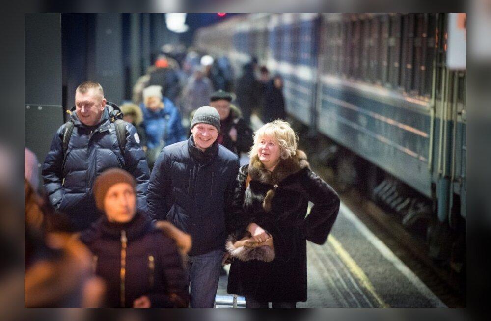 Vene turistid Balti jaamas
