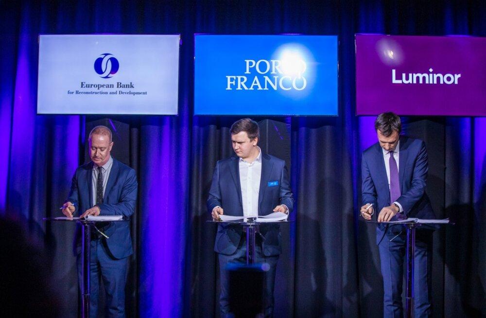Porto Franco laenulepingu allkirjastamise vastuvõtt