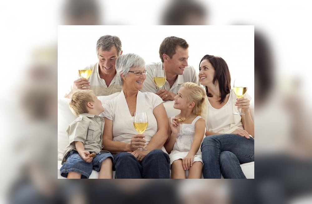 perekond, kolm põlvkonda