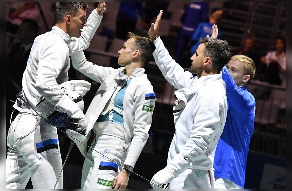 Eesti epeemeeskond jõudis EM-il poolfinaali, kuid jäi neljandaks.