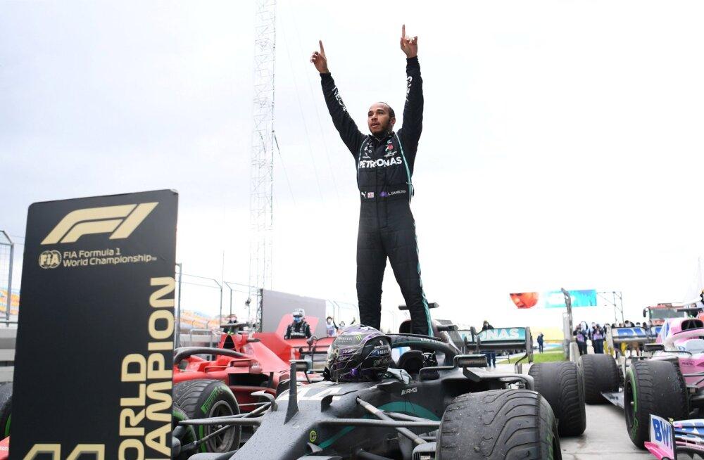 Lewis Hamilton, nüüd juba seitsmekordne maailmameister