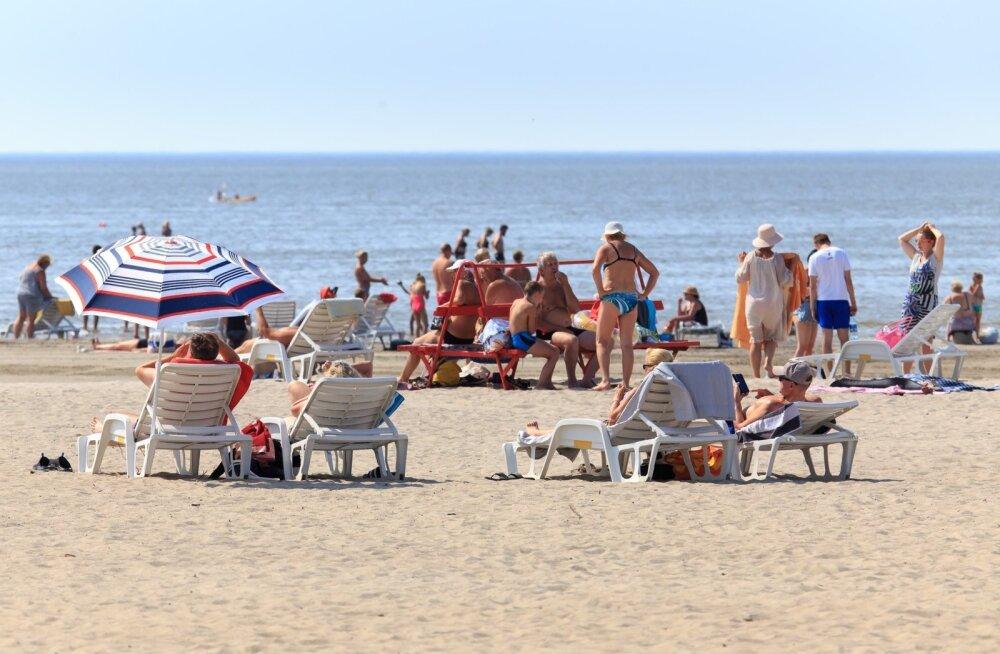 Suvekuumus Pärnu rannas
