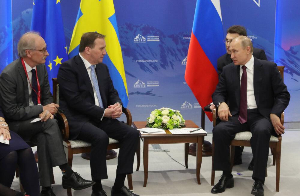 Putin ja Rootsi peaminister Löfven tsiteerisid võidu Puškinit