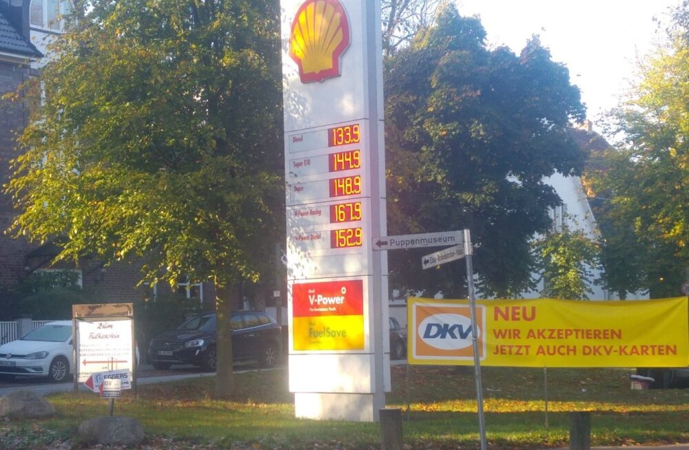 ФОТО: В Гамбурге дизельное топливо стоит дешевле, чем в Эстонии