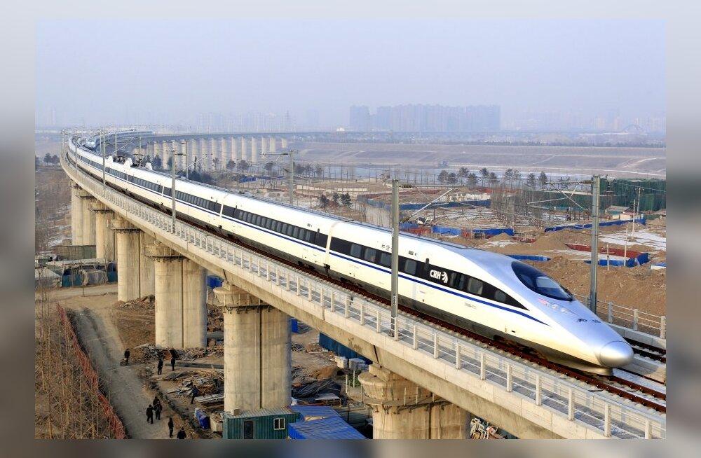 Hiina plaanib ülemaailmset kiirrongivõrku: Pekingist Ameerikasse ja Londonisse