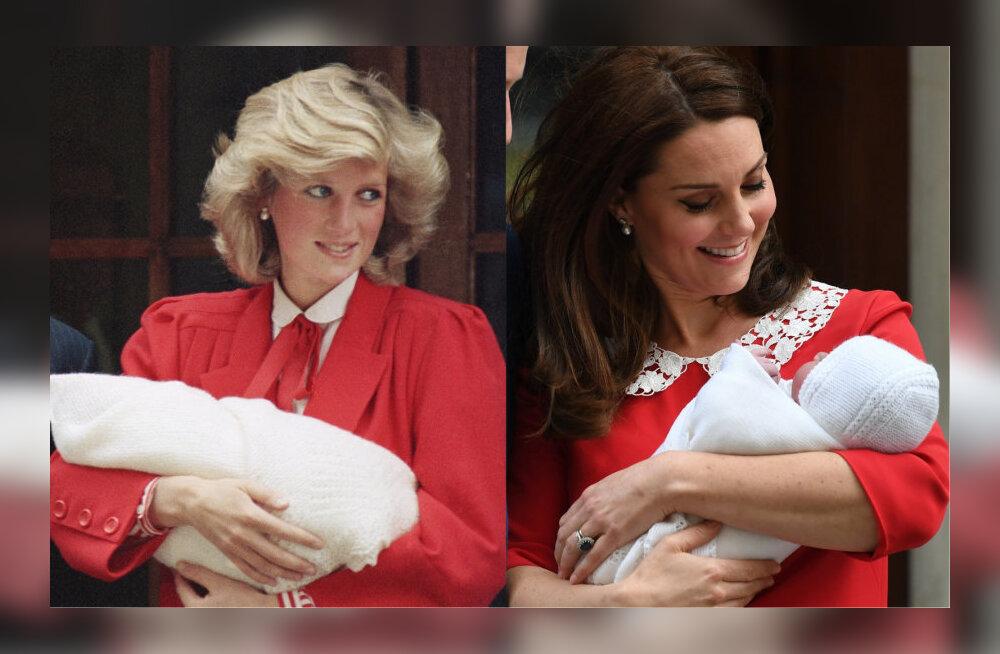 ФОТО: Кейт Миддлтон на выписке из роддома опять повторила образ принцессы Дианы