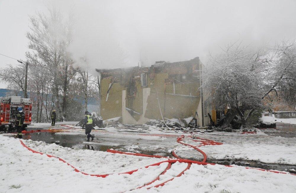 Põlenud maja Lasnamäel