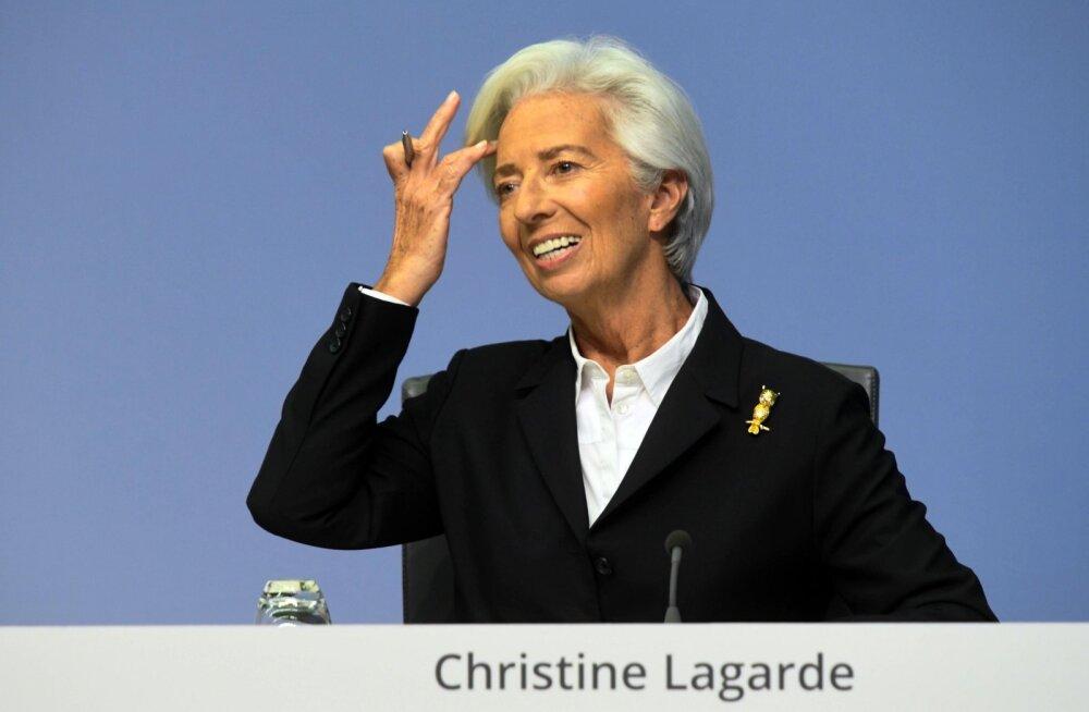 Lagarde pani Euroopa Keskpanga suurte muutuste kursile