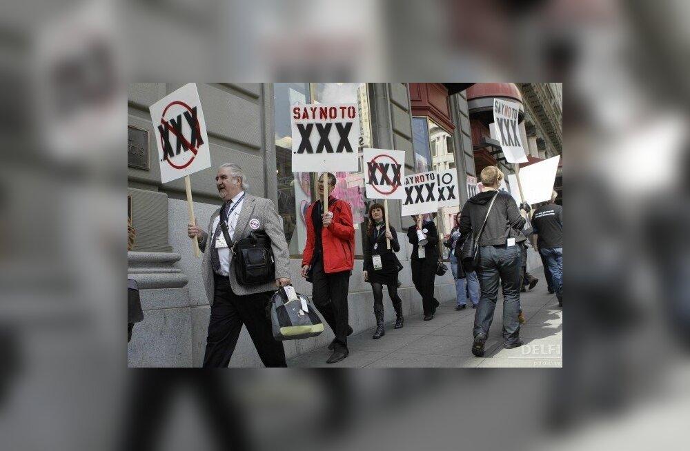 Protest pornodomeeni vastu San Franciscos sel neljapäeval. Foto AP