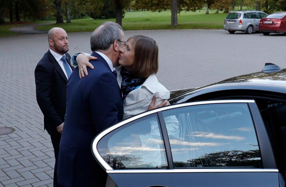 Kersti Kaljulaid saabus Kadriorgu