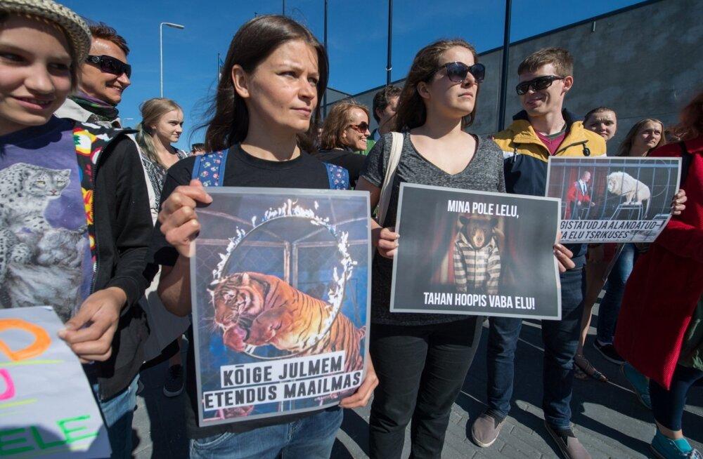 Loomade tsirkuses kasutamise vastane protest