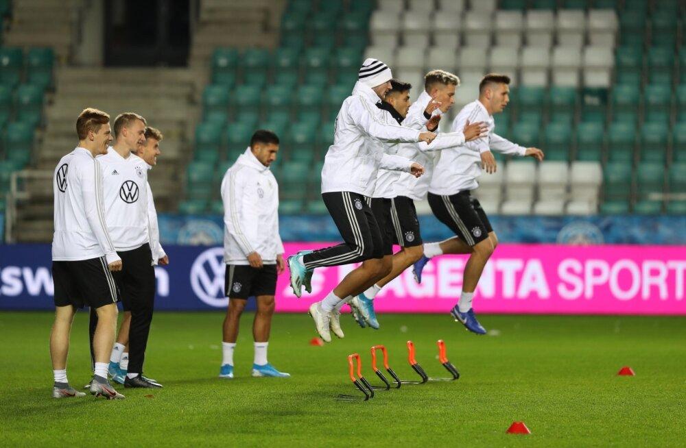 ФОТО: Эстония и Германия к бою готовы. Что сказали перед матчем тренеры?