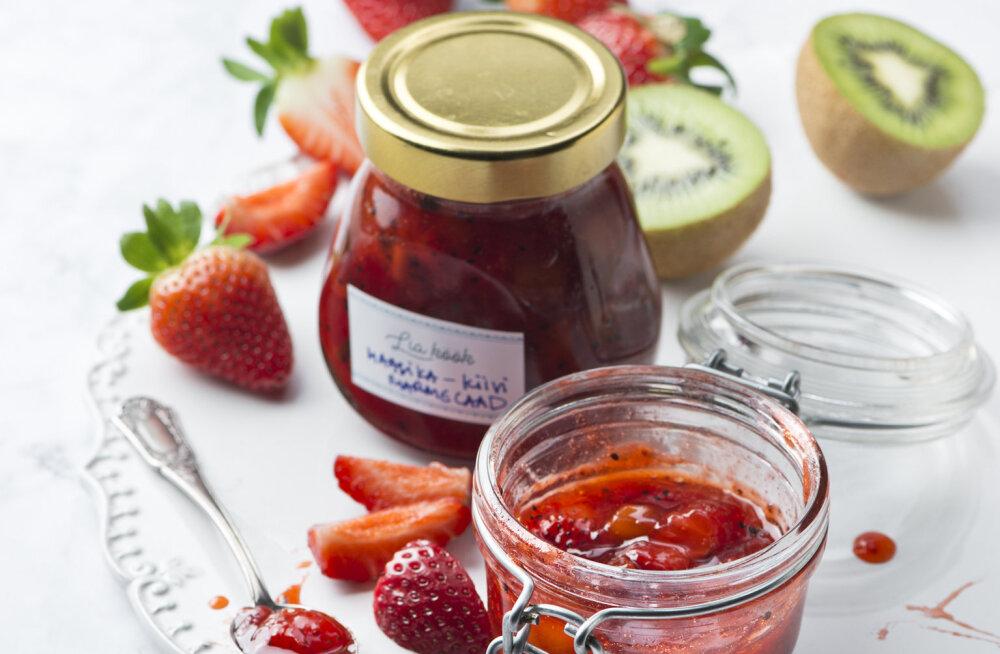 LIA VIRKUSE RETSEPT | Eksootiline kiivi ja rohelise pipraga maasikamarmelaad