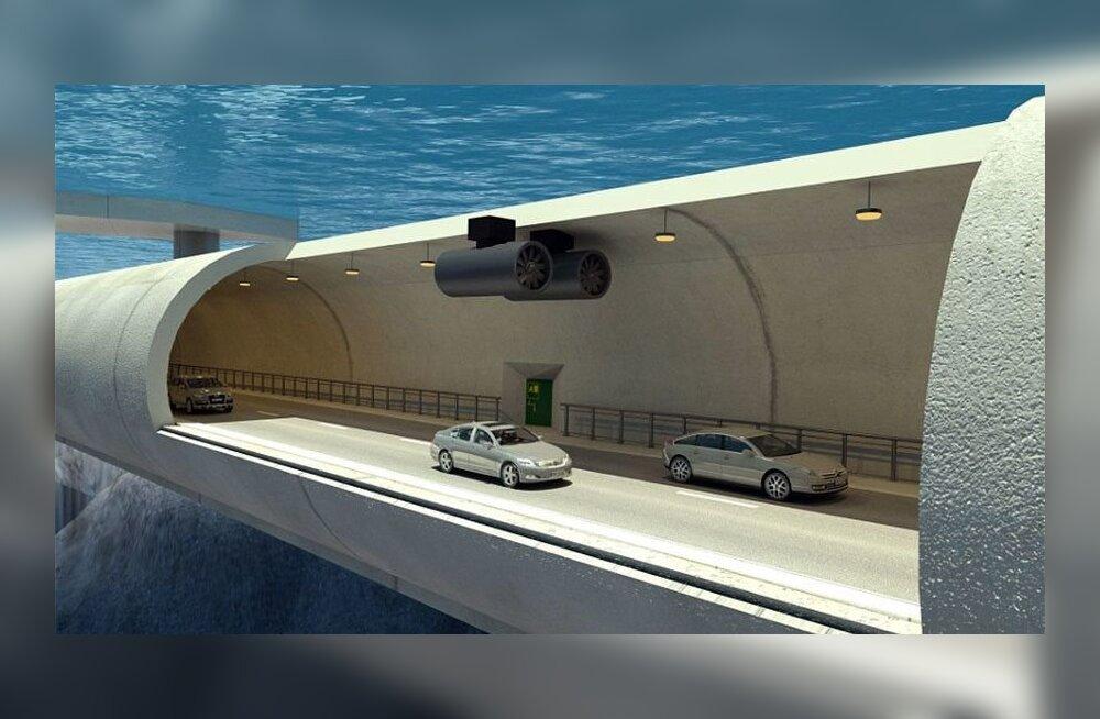 Norra kolib osa liiklusest 30 meetri sügavusele vee alla