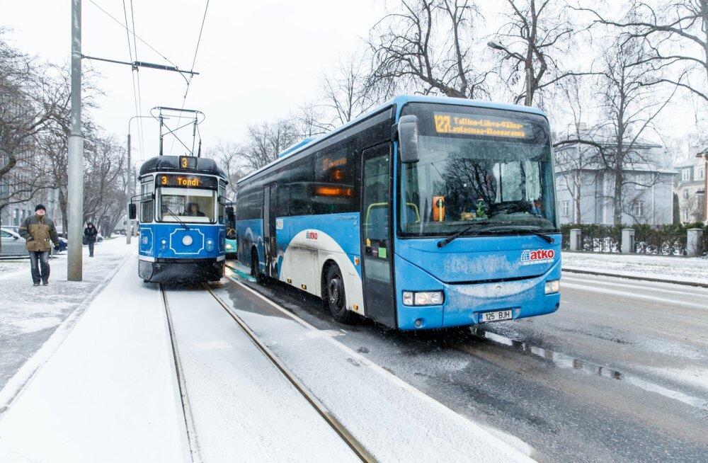 Tramm, Atko liinibuss, ühistransport