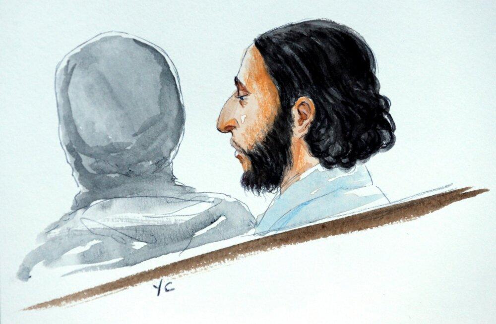Pariisi terrorirünnakute kahtlusalune kohtus: ma ei karda teid, ma usun Allahisse ja ei lisa rohkem midagi