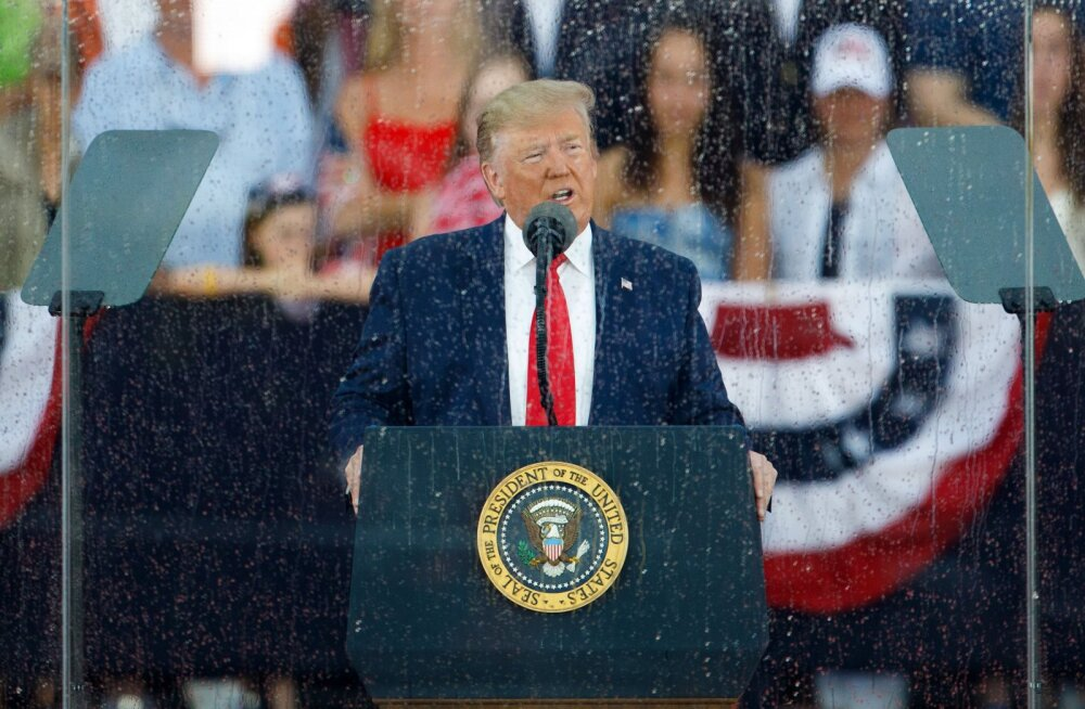 Trump rääkis oma kõnes USA iseseisvussõjas (1775-1783) hõivatud lennuväljadest
