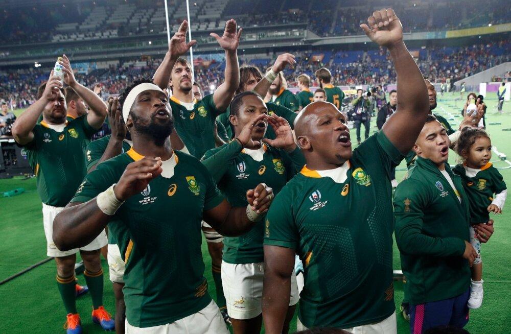 Lõuna-Aafrika Vabariik jõudis ragbi MM-il finaali.