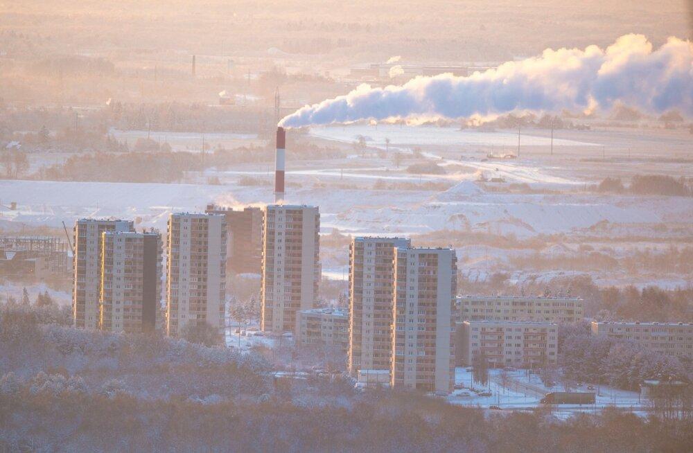 Külm talvehommik Teletornist vaadatuna