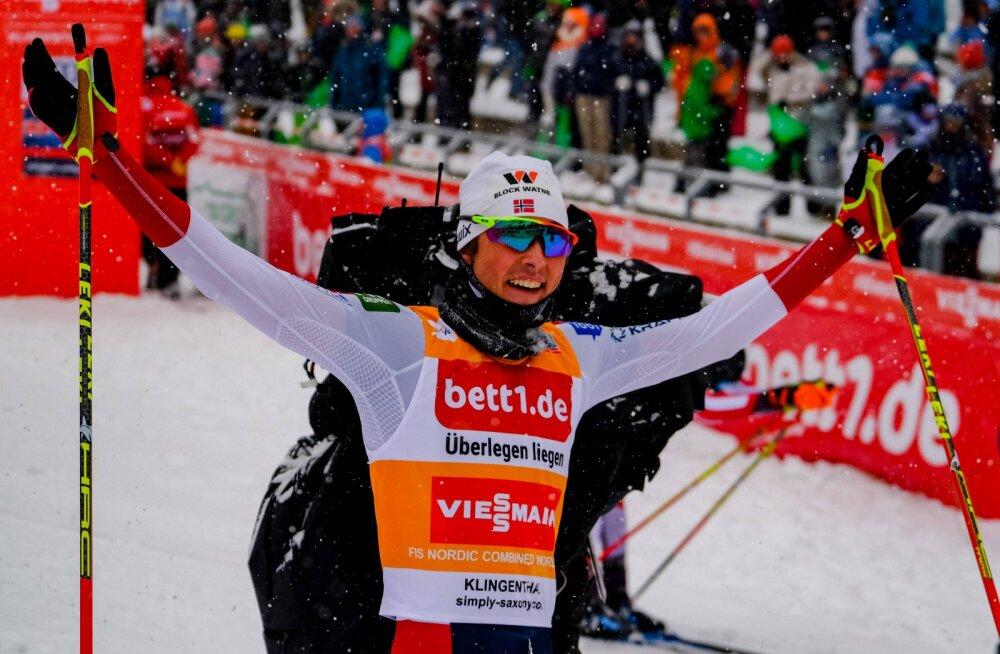 Jarl Magnus Riiberi tegi Norra kahevõistluse ajalugu ja kindlustas MK-sarja üldvõidu