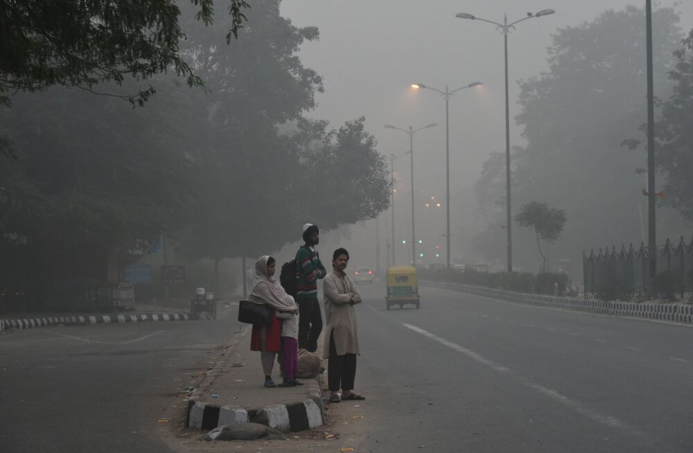 Tõeline gaasikamber: sudu India pealinnas on nii tihe, et paistab juba kosmosesse