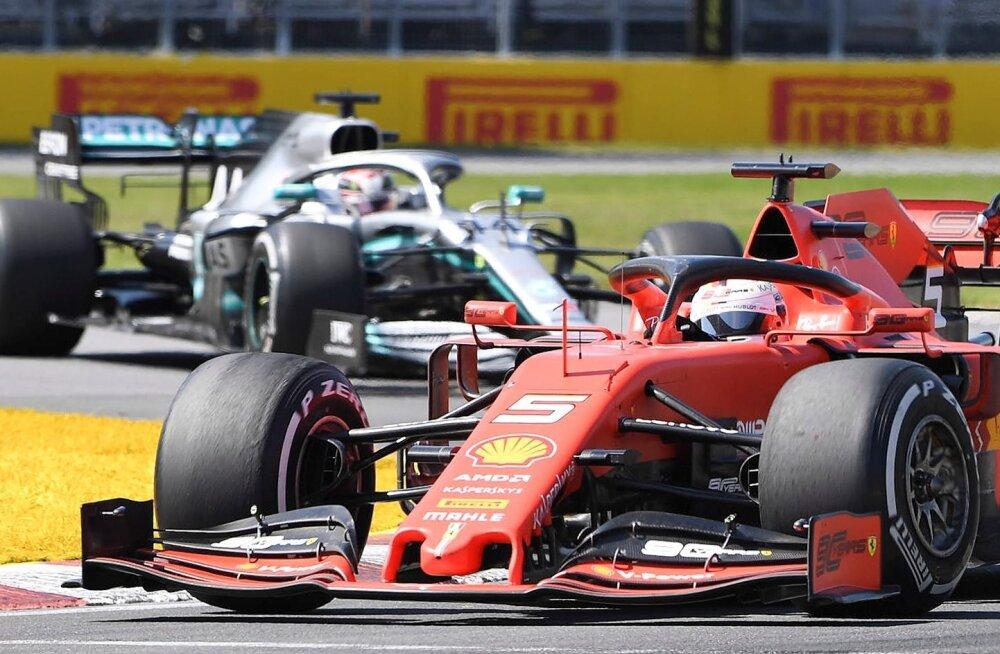 Üle lõpujoone kihutati, Sebastian Vettel ees ja Lewis Hamilton sabas. Poodiumil seisti teistpidi järjestuses.