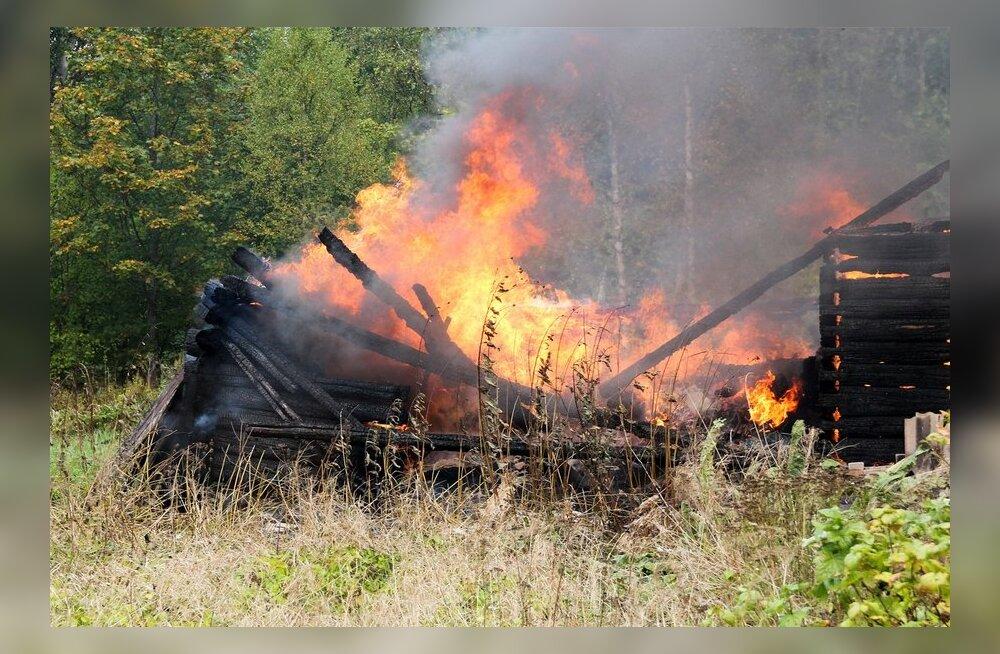 Suvila põleng Suurna külas, Salme vallas