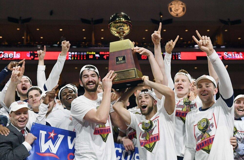 Saint Mary's Gales teenis WCC konverentsi võiduga otsepääsme NCAA finaalturniirile.
