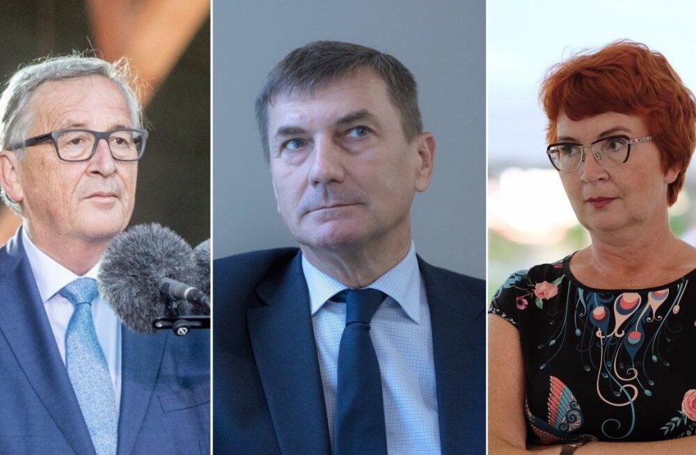 Jean-Claude Juncker, Andrus Ansip ja Yana Toom