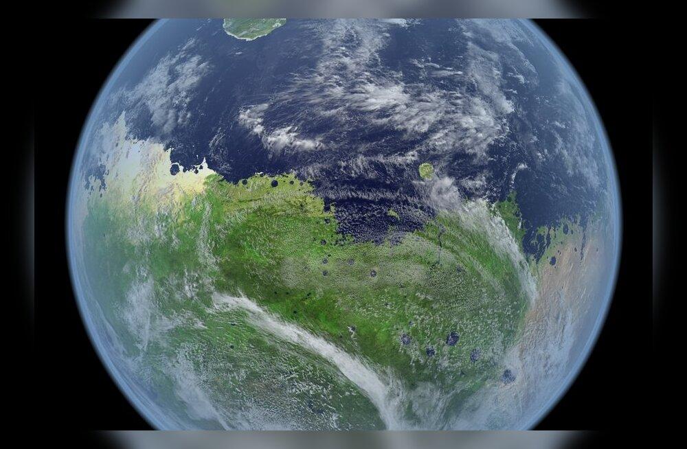 Fototöötlus: Kuidas võis Marss välja näha, kui seal veel ookean loksus