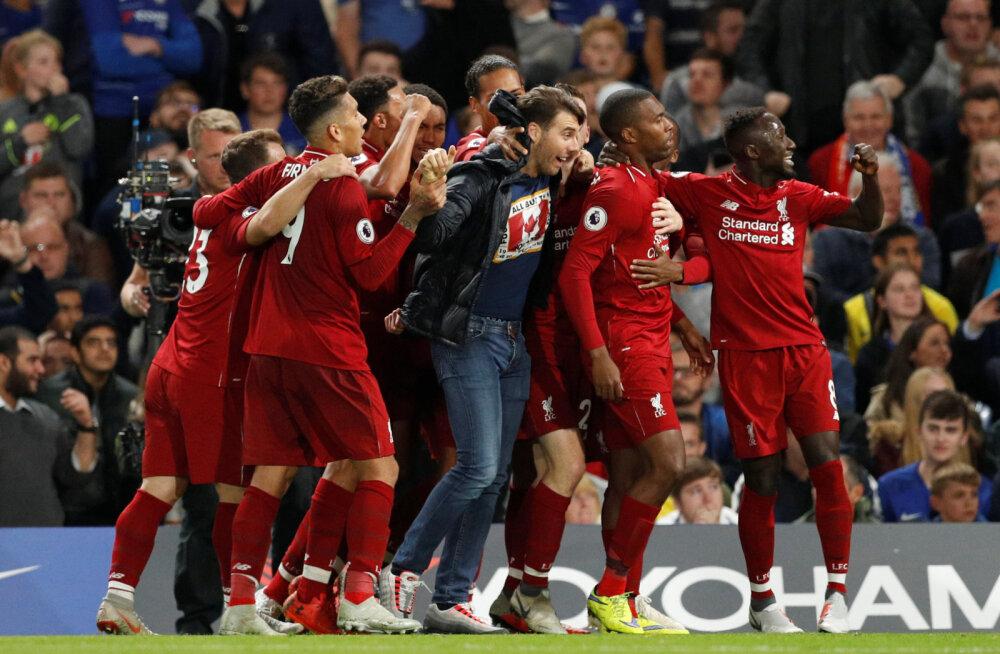 Liverpool ja Chelsea leppisid viiki, City tõusis liidriks