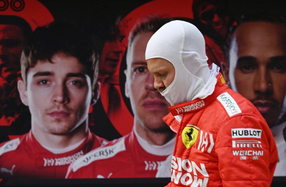 Sebastian Vettel ja Charles Leclerc (postril)