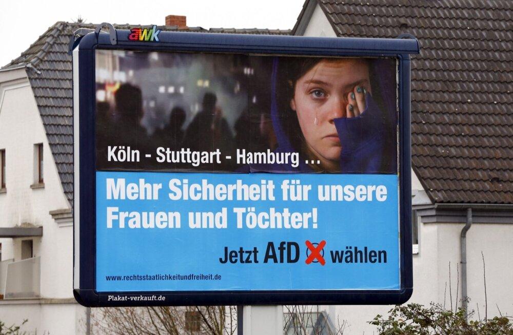 Saksa Hesseni liidumaa kommunaalvalimistel tõusis kolmandale kohale sisserändevastane AfD