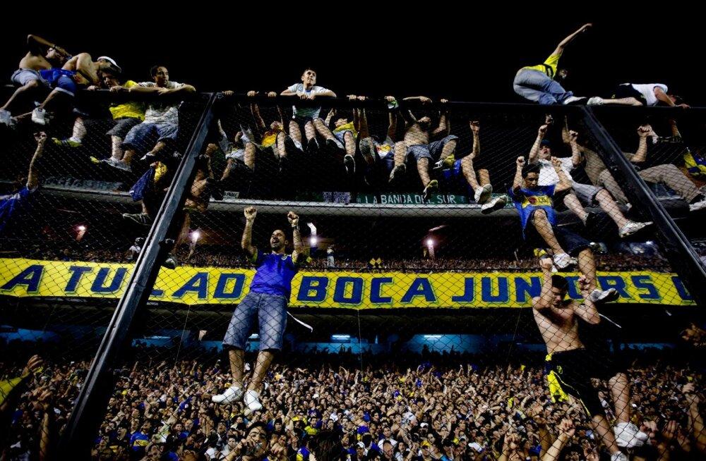 Boca Juniorsi hullumeesed fännid.