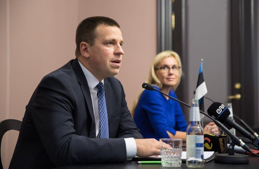 Kadri Simsoni ja Jüri Ratase pressikonverents