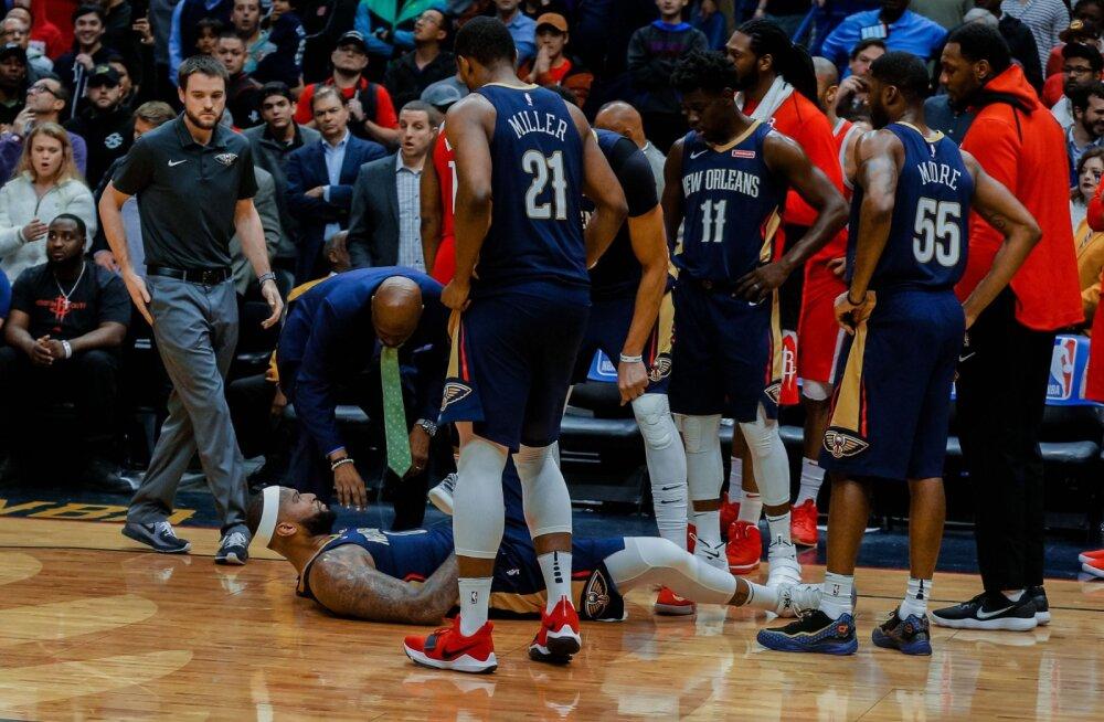 VIDEO | Tähtede mängule valitud New Orleansi staar sai ränga vigastuse, hooaeg ilmselt läbi