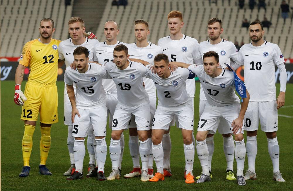 Eesti koondis möödus FIFA edetabelis Fääri saartest ja Indiast