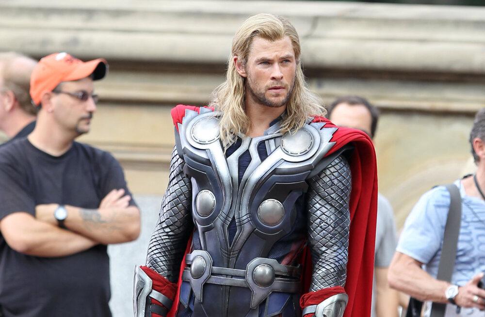 """Oleks sobinud? Chris Hemsworth oleks """"Thori"""" napilt hoopis legendaarsele punapäisele näitlejale kaotanud"""