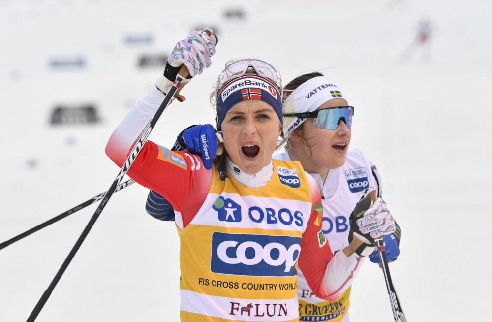 Therese Johaug ja Ebba Andersson