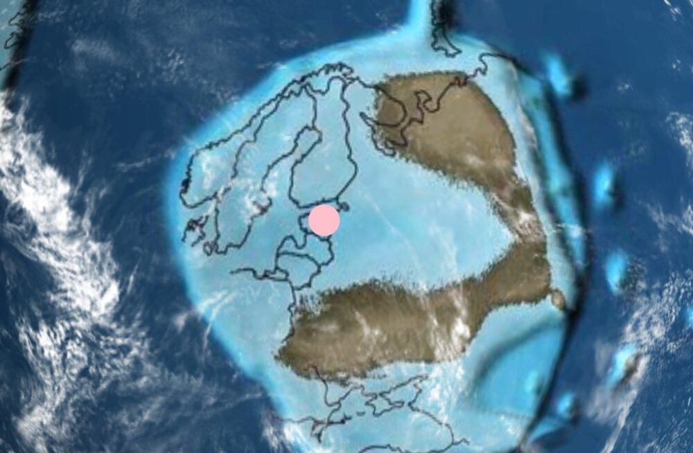 Vaata järele! Kaardirakendus võimaldab näha, milline oli kodukoht miljoneid aastaid tagasi